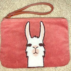 Adorable Llama wristlet wallet